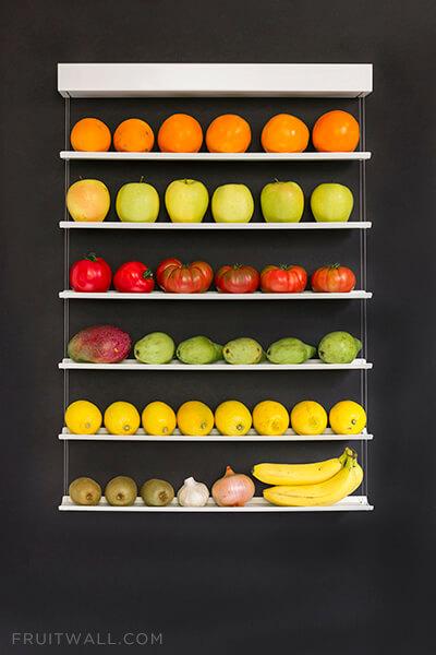 Fruteros de pared con los que ganas espacio